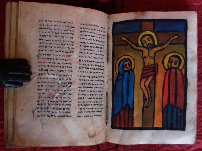 """""""Bibbia copta"""" del 1850 illustrata in asta sottoprezzo – 160 euro"""