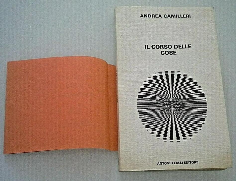 ANDREA CAMILLERI – IL CORSO DELLE COSE (1978) prima rarissima edizione, con fascetta editoriale