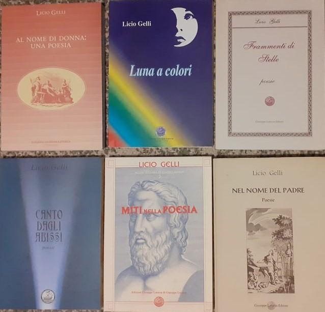 Occasione: blocco di 6 opere autografate di poesia del venerabile Licio Gelli in asta