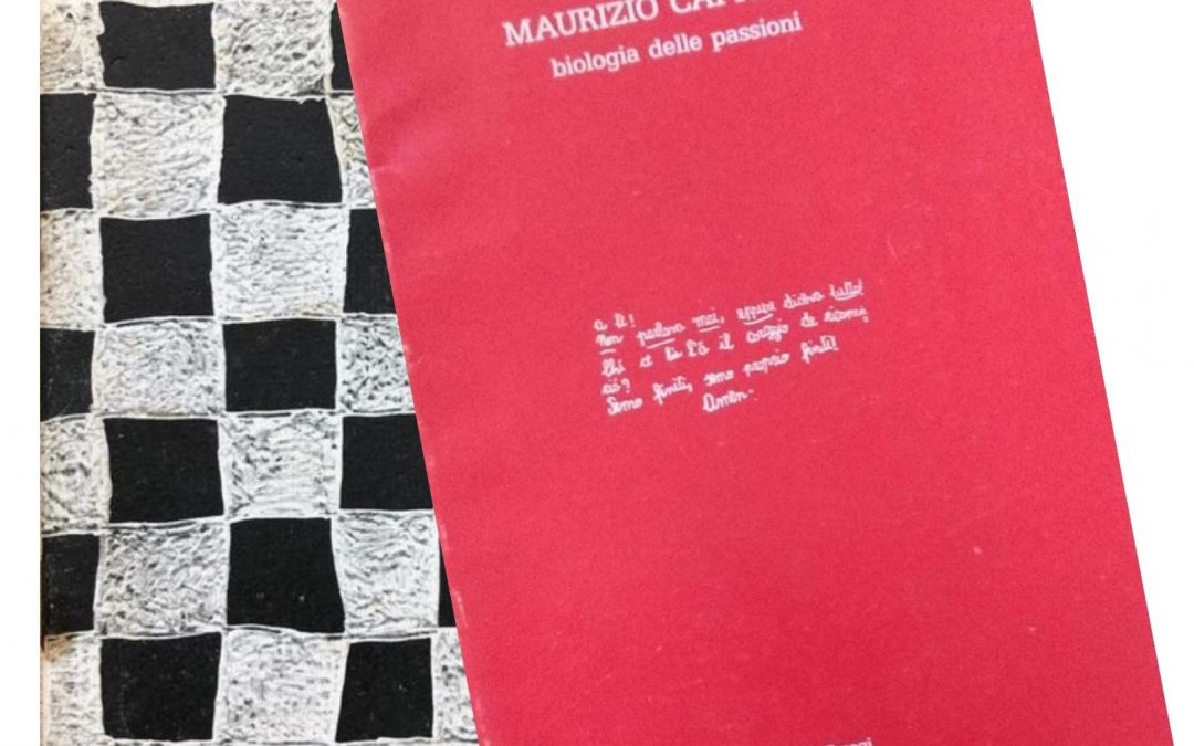 Le prime due rarissime pubblicazioni dell'artista Maurizio Cattelan (1988 e 1989)