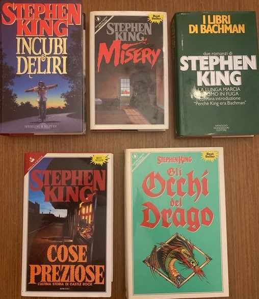 Lotto in asta di 5 ricercate edizioni del re del brivido Stephen King