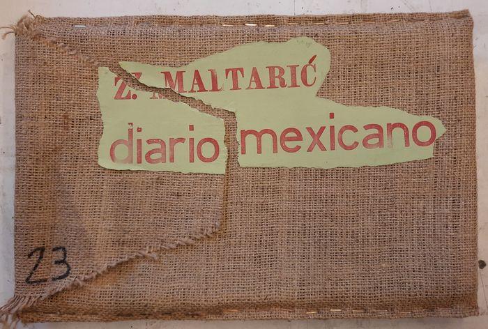 """""""Diario Mexicano"""" di Mario Benedetti e Zlata Maltarić (2005): solo 30 esemplari per un libro d'artista in balla di iuta"""