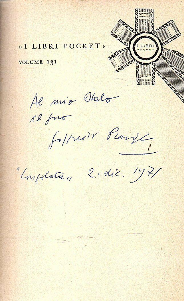 E se fosse davvero una dedica di Goffredo Parise a Italo Calvino? I mille dubbi degli autografi d'autore