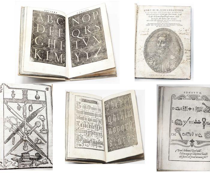 """""""Libro nel quale s'insegna a Scriver ogni sorte lettera Antica et Moderna"""" di Giovambattista Palatino (edizione corretta del 1550)"""