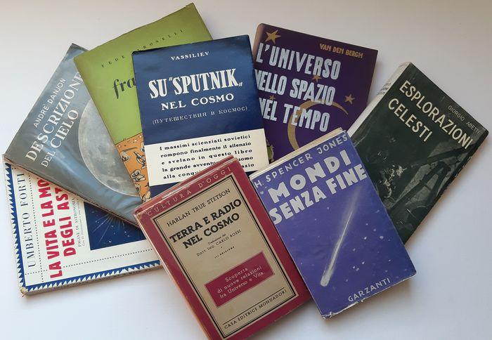 Un lotto di 8 libri di astronomia popolare: Sputnik, esplorazioni celesti, vita e morte degli astri