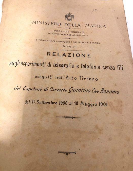 """Per i patiti di 'Marconiana' un documento unico: """"Relazione sugli esperimenti di telegrafia e telefonia senza fili"""" (1901)"""